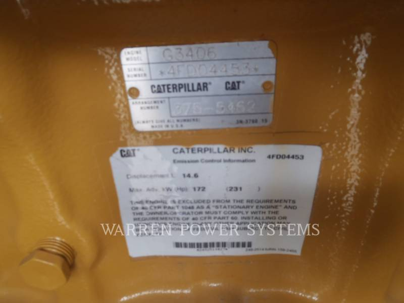 CATERPILLAR GRUPPI ELETTROGENI FISSI G3406NA equipment  photo 9
