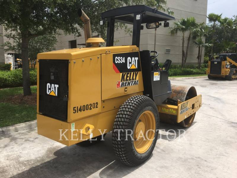 CATERPILLAR VIBRATORY SINGLE DRUM SMOOTH CS34 equipment  photo 6