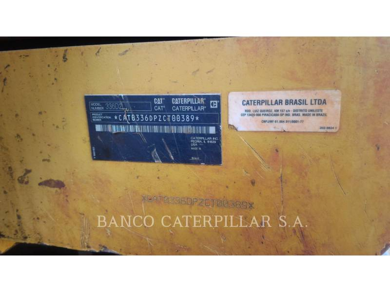 CATERPILLAR EXCAVADORAS DE CADENAS 336D2L equipment  photo 9