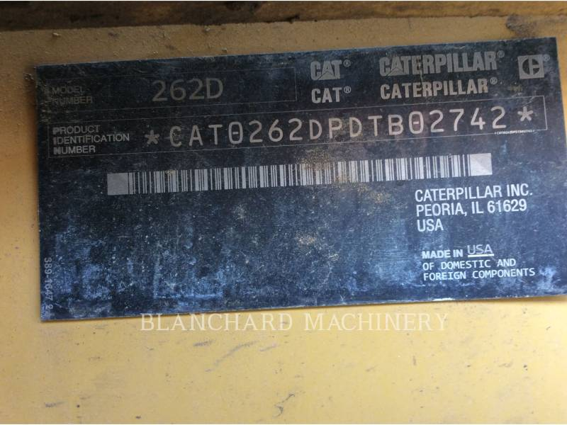 CATERPILLAR CHARGEURS COMPACTS RIGIDES 262D equipment  photo 11