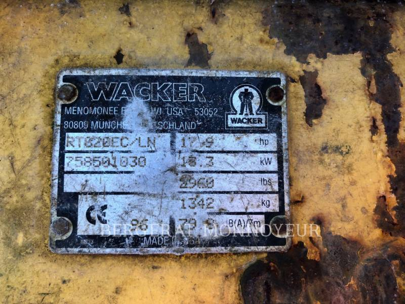 WACKER CORPORATION COMPACTEURS RT820 equipment  photo 2