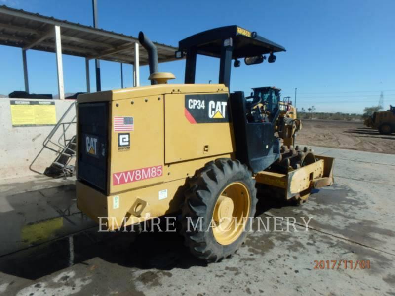 CATERPILLAR EINZELVIBRATIONSWALZE, BANDAGE CP34 equipment  photo 2