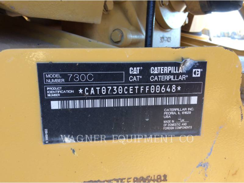 CATERPILLAR KNICKGELENKTE MULDENKIPPER 730C equipment  photo 5