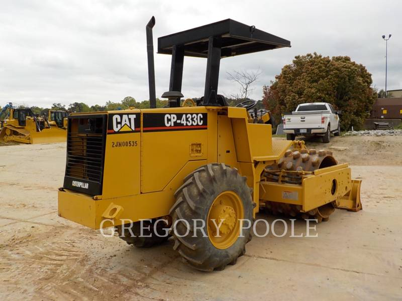 CATERPILLAR COMPACTEUR VIBRANT, MONOCYLINDRE À PIEDS DAMEURS CP-433C equipment  photo 2