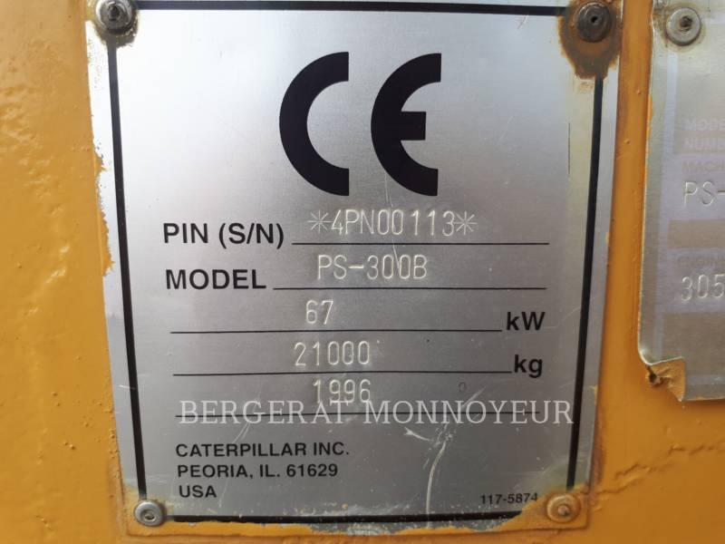 CATERPILLAR PNEUMATIC TIRED COMPACTORS PS-300B equipment  photo 5