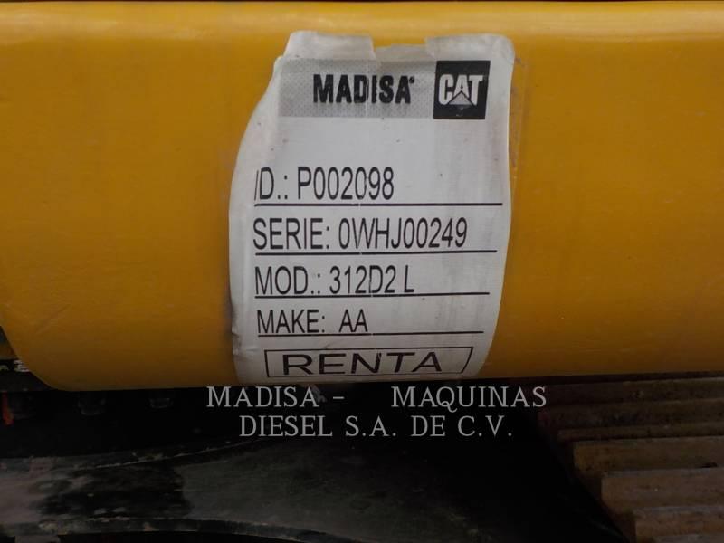 CATERPILLAR EXCAVADORAS DE CADENAS 312D2L equipment  photo 7