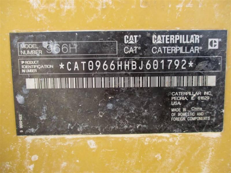 CATERPILLAR ホイール・ローダ/インテグレーテッド・ツールキャリヤ 966H equipment  photo 5