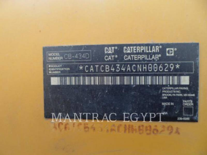 CATERPILLAR 振動ダブル・ドラム・アスファルト CB-434D equipment  photo 12
