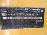 CATERPILLAR OFF HIGHWAY TRUCKS 777GLRC equipment  photo 2