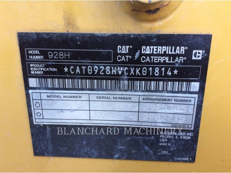 CATERPILLAR WHEEL LOADERS/INTEGRATED TOOLCARRIERS 928H equipment  photo 14