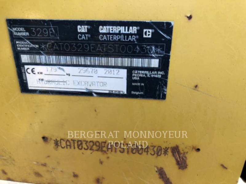 CATERPILLAR ESCAVATORI CINGOLATI 329EL equipment  photo 5