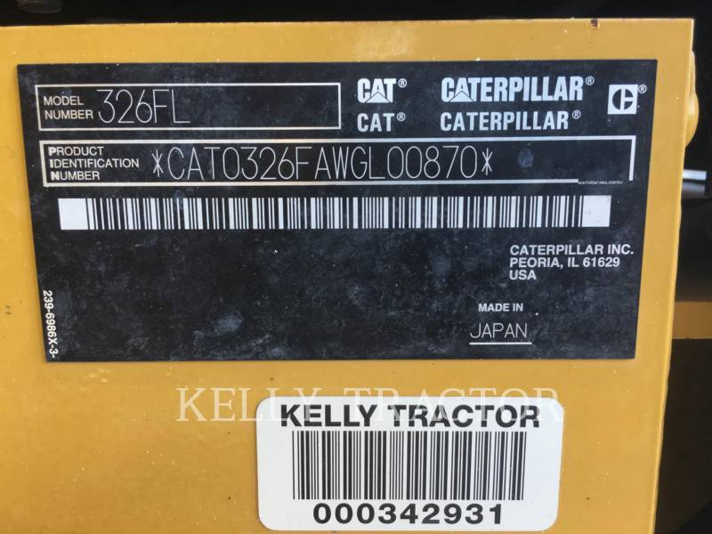 CATERPILLAR PELLES SUR CHAINES 326FL equipment  photo 20
