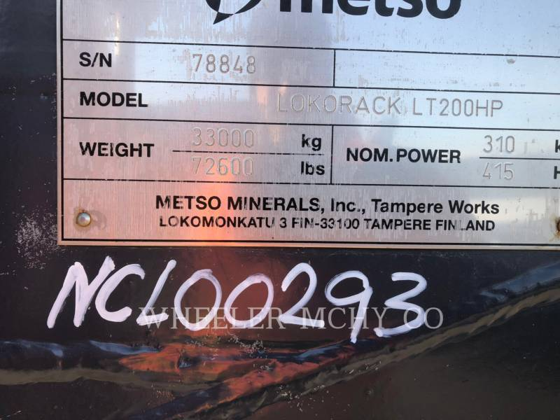 METSO KRUSZARKI LT200HP equipment  photo 7