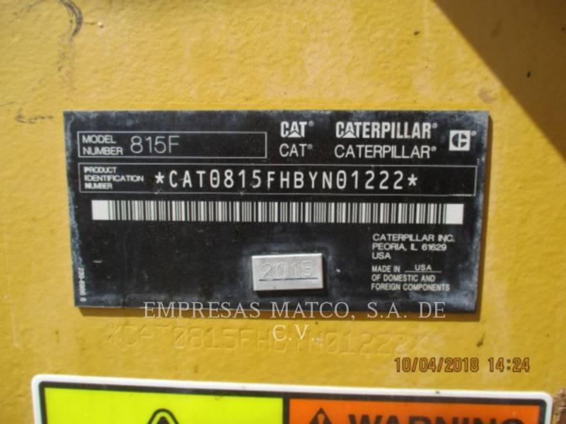 CATERPILLAR COMPACTORS 815FII equipment  photo 5