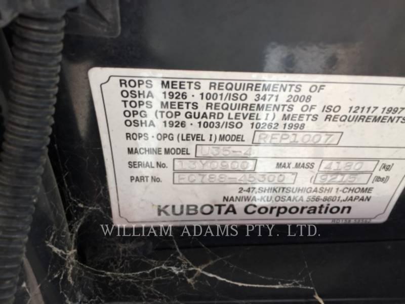KUBOTA CORPORATION KOPARKA KOPALNIANA PRZEDSIĘBIERNA / KOPARKA U35-4 equipment  photo 8