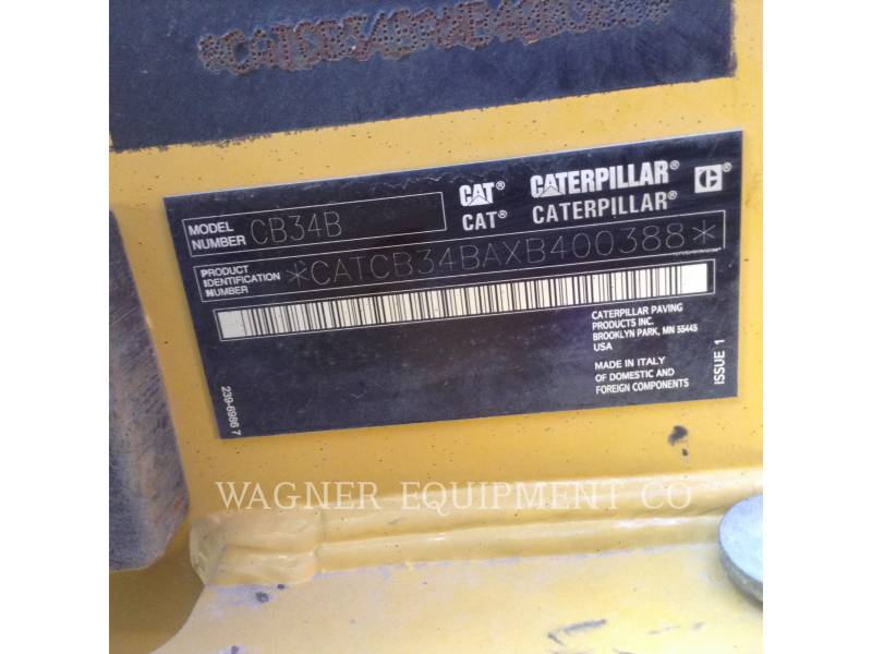 CATERPILLAR VERDICHTER CB34B equipment  photo 5