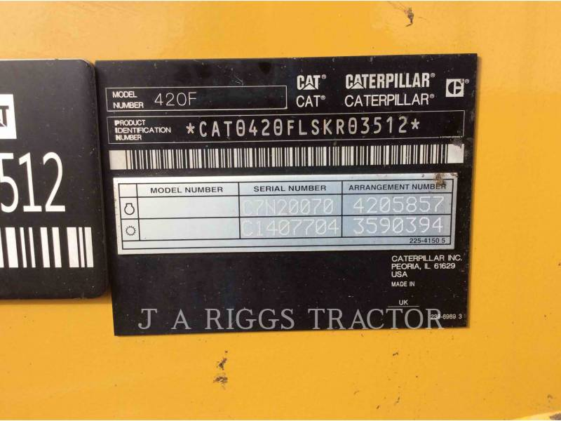 CATERPILLAR RETROEXCAVADORAS CARGADORAS 420FST equipment  photo 10