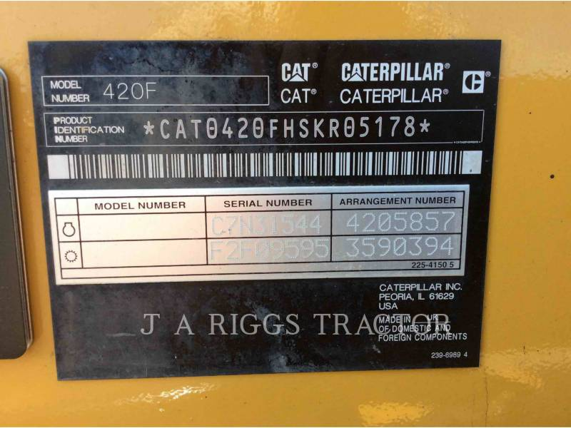 CATERPILLAR RETROEXCAVADORAS CARGADORAS 420F 4 equipment  photo 9