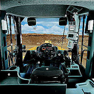 Operator Station: Conventional Steering Wheel
