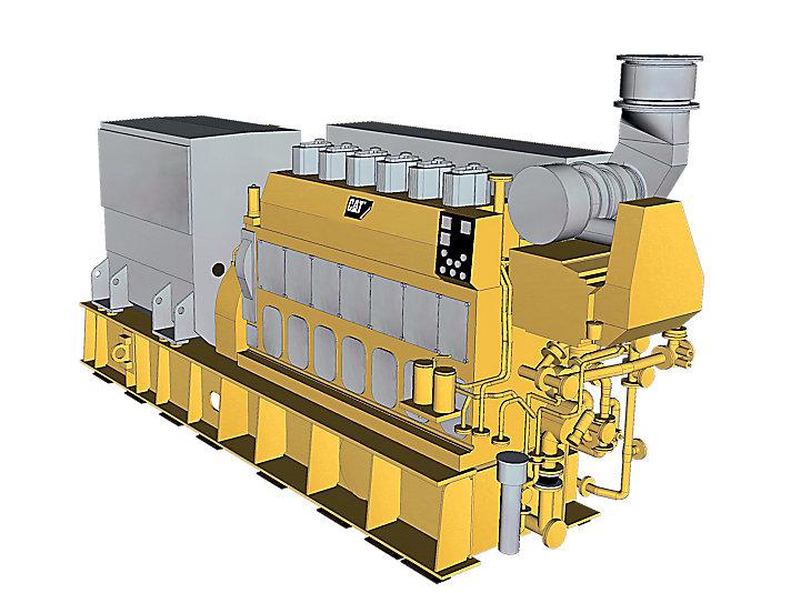 6CM25C海上発電装置