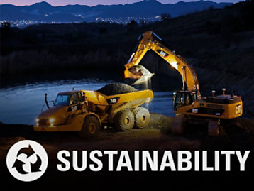 Cat® Connect Sustainability Image with Icon