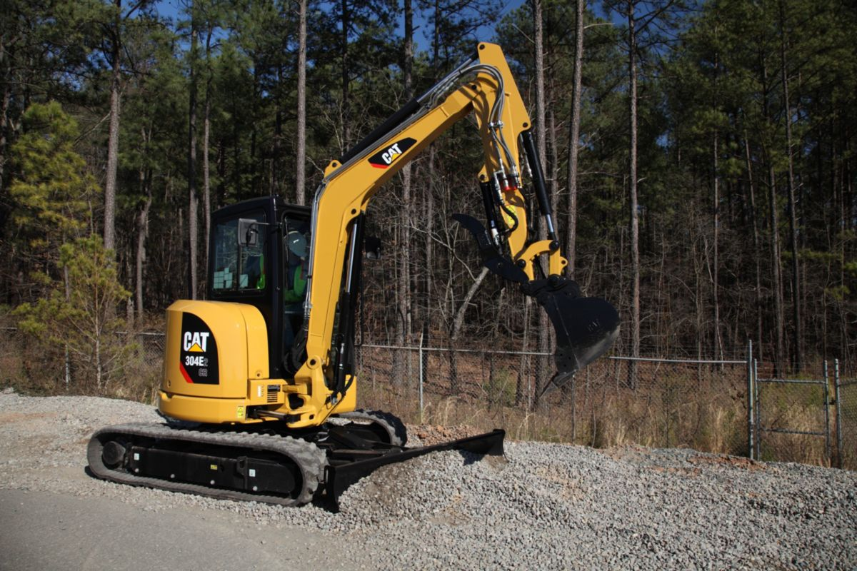 cat new cat e2 series mini hydraulic excavators get new high
