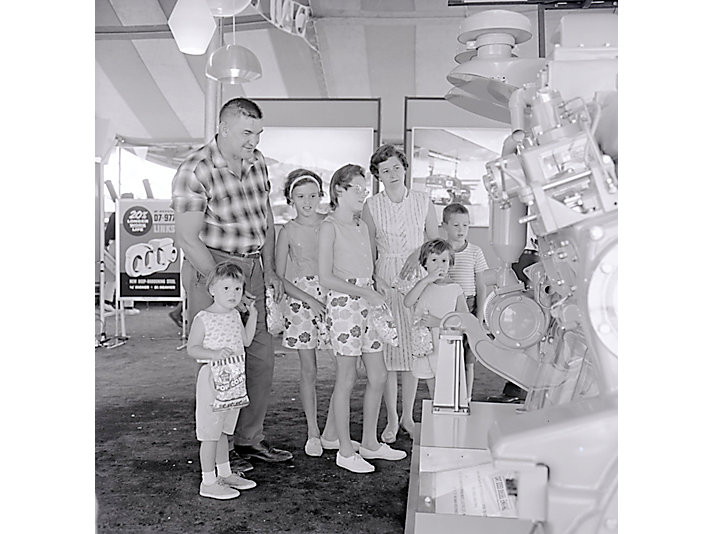 Attendees learn about new products in 1964
