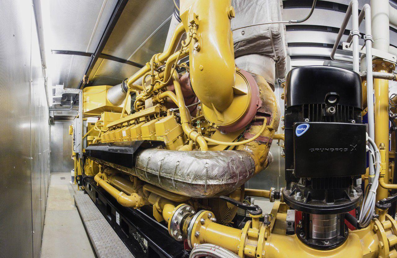 Sistema de Cogeneración Accionado por Gas Natural Cat® G3516H de 2 MW
