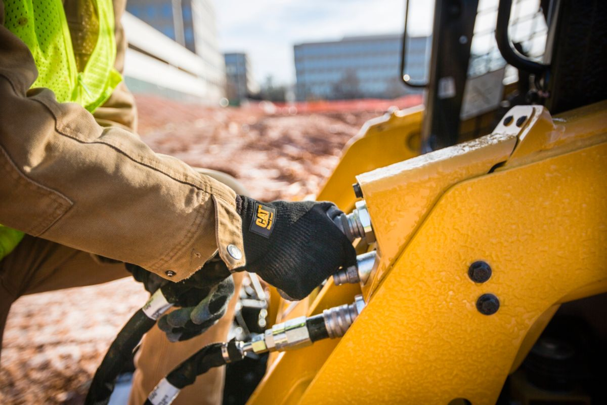 Attachments are crucial to the work performed by Raleigh East Concrete. They are must-haves, according to Parvin, as they allow for a quick transition from loader buckets to forklifts to augers and back again.