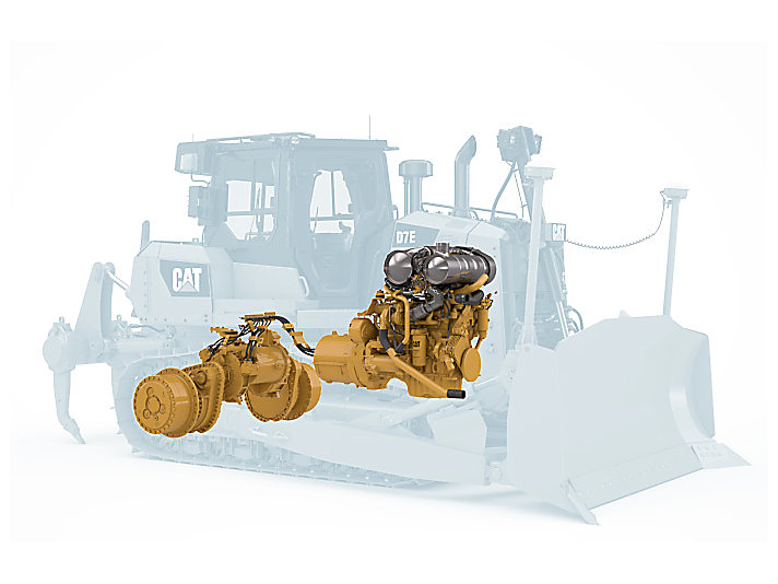 Mittelgroßer Kettendozer D7E