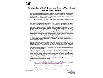 Tier IIIおよびTier IVデータ・センターにおけるCat®発電装置の用途