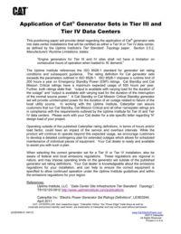 Applicazione dei gruppi elettrogeni Cat® nei Data center Tier III e Tier IV