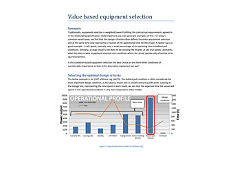 Values Based Equipment Selection White Paper