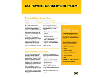 Cat Powered Hybrid Solutions Brochure