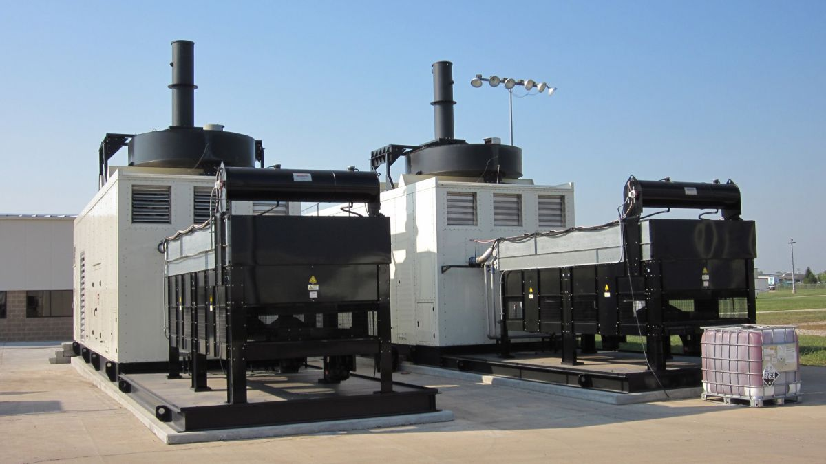 Cat generator sets at the Lafayette Engine Center