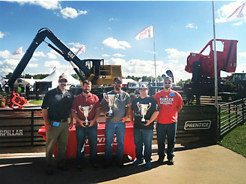 Top finishers in the Cat Loader Championship