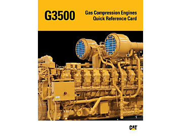 G3500/G3500B - Gas Compression Engines Quick Reference Card