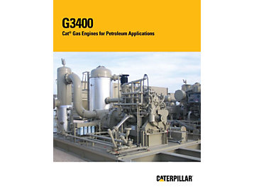 Moteurs à gaz G3400 Cat pour les applications de compression de gaz
