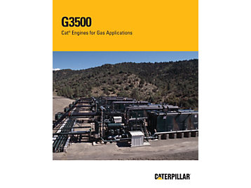 Moteurs G3500 Cat pour les applications de compression de gaz