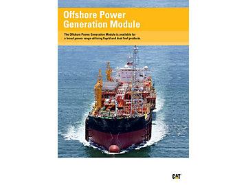 Módulo de generación de energía para aplicaciones de alta mar