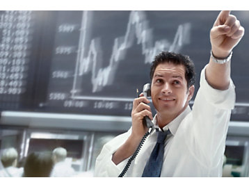 Фондовая биржа человек