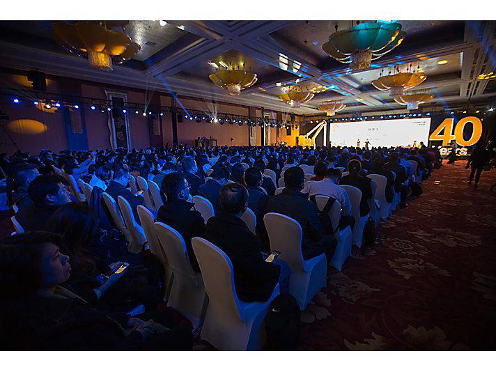 """""""建设美丽中国 --- 卡特彼勒在华40周年庆典""""开幕仪式现场"""