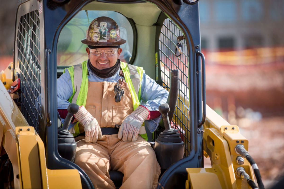 """""""The ride in a Cat D Series Skid Steer Loader is so much smoother; you can accelerate faster and for longer periods of time. That comfort level has a positive effect on both safety and productivity,"""" said Parvin."""