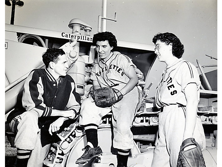 Coach Chuck McCord with Dieselettes, 1949