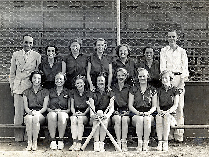 The First Caterpillar Girls team, 1936