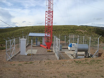FG Wilson Containerized generator set powering a telecommunications tower