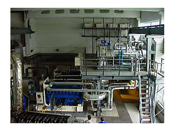 FG Wilson fotografía generador de sala de máquinas