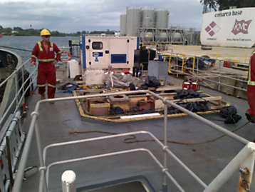 FG Wilson generator set on theJubilee Hope medical vessel photograph