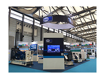 FG Wilson stand d'exposition lors de l'exposition 2,014 photographie China Power