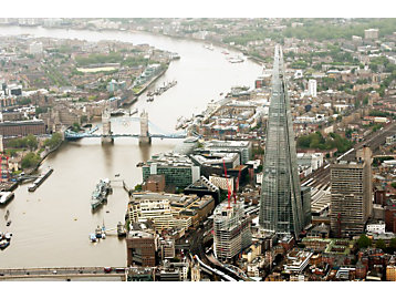Skyline of London including the Shard building